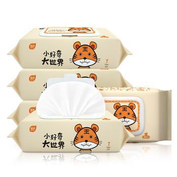 植护婴儿湿巾80片*5包新生婴儿手口通用湿纸巾