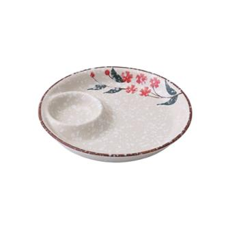 【8寸】日式饺子盘 带醋碟