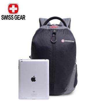 SWISSGEAR/瑞士军刀双肩包书包联想华硕苹果戴尔惠普笔记本电脑包轻便款背包SA7660RE14.6英寸灰/红