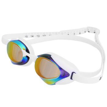 得力竞速型泳镜男女游泳眼镜高清防雾大框成人儿童防水潜水装备可换鼻桥F6124