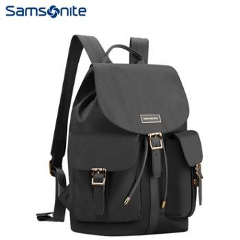 新秀丽(Samsonite)都市潮时尚多袋扣电脑包双肩包