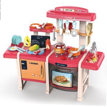 育儿宝儿童过家家厨房玩具套装厨具餐具益智过家家餐台厨台煮饭玩具703