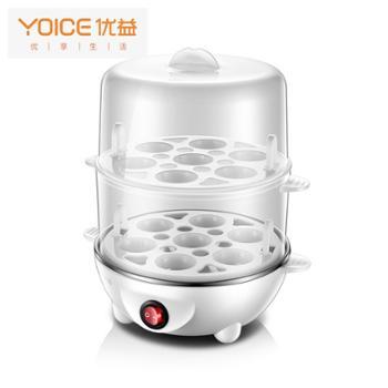 优益(Yoice) ZDQ7蒸蛋器双层自动迷你蒸蛋机 煮蛋器