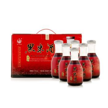 朱鹮陕西特产黑米酒9度半甜型快乐装300mlx6