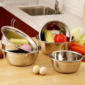 欧润哲经济版不锈钢味斗菜盘一套五件厨房洗碗洗菜沥水盘