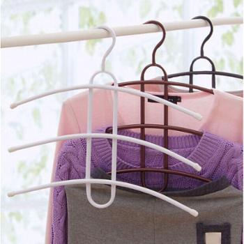 3个/组铁艺便捷式多层鱼骨型衣架多功能创意挂衣架