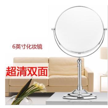 欧式镜子双面梳妆镜6英寸便携公主镜高清双面镜