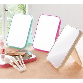 高清单面化妆镜子台式梳妆折叠方形公主镜