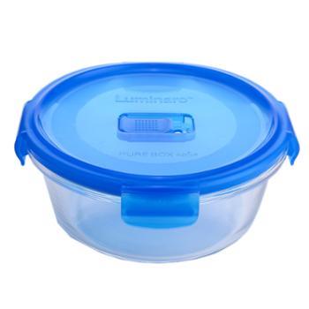 乐美雅纯净钢化玻璃保鲜盒圆形420ml
