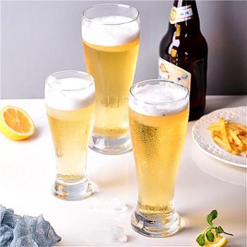 乐美雅创意加厚啤酒杯啤士堡直身杯285ml(6只装)