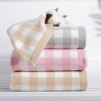 凯诗风尚米妮系列纱布方巾面巾洗脸巾两条装