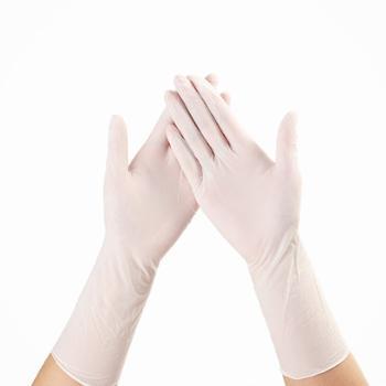 凯诗风尚一次性乳胶手套食品级加厚丁晴手套30只装