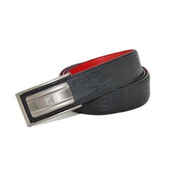 本命年男士皮带红腰带裤带头层牛皮板扣黑色红色吉祥大板扣红腰带