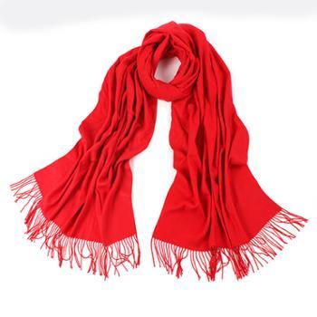 本命年羊绒大红色围巾围巾礼盒装