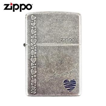 打火机zippo古银爱情礼品ZBT-1-8