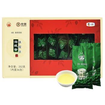 海堤茶叶铁观音新茶礼盒小袋装心知度明清香8度252克/盒(36包*7g)