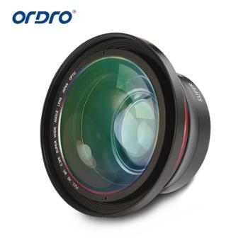 欧达 摄像机配件FS-1大镜头高清广角微距通用二合一拍照外置摄像头