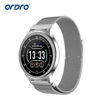 Q28彩屏智能手环手表心率血压监测睡眠监测运动模式防水钢带 皮带