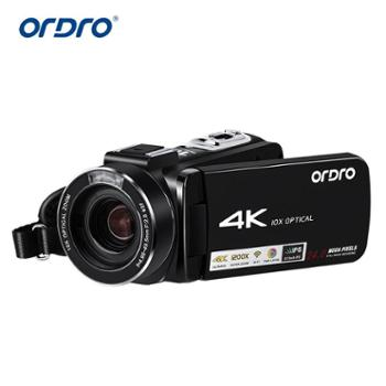 ordro欧达 高清4K摄像机DV10倍光学变焦可接广角麦克风超清 HDR-AC7