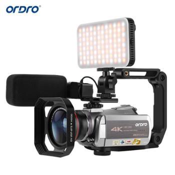 欧达/Ordro 网络摄像机4K高清专业视频虎牙直播DV可接麦克广角镜 HDR-AZ50