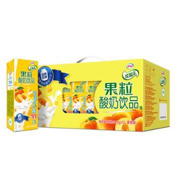 伊利 优酸乳果粒酸奶饮品黄桃味 245g*12