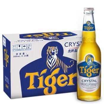 虎牌 啤酒瓶装晶纯 300ml*24瓶