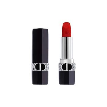 迪奥/Dior烈焰蓝金唇膏720-丝绒豆沙红棕3.5g