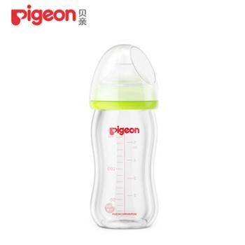 贝亲新生儿宽口径玻璃奶瓶绿色160ml配SS奶嘴AA72