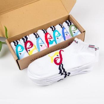 苹果牌休闲袜 女袜 吸汗袜 棉袜 高品质袜子 厂家直销 7双(0251款)
