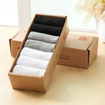 苹果牌休闲袜 男袜 吸汗袜 棉袜 高品质袜子 厂家直销 7双(0606款)
