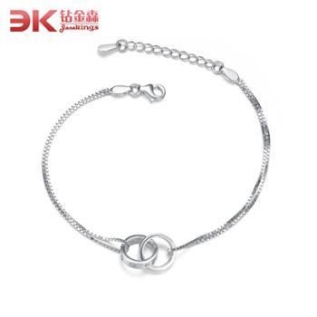 钻金森925纯银两环相扣韩版时尚螺丝手链