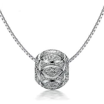 钻金森纯银转运珠项链