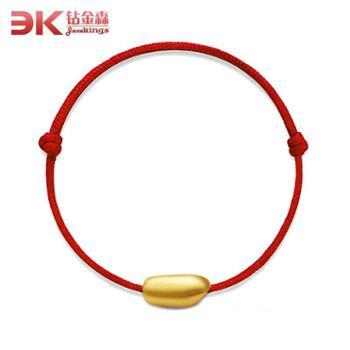 钻金森黄金3D硬金大米转运珠手链