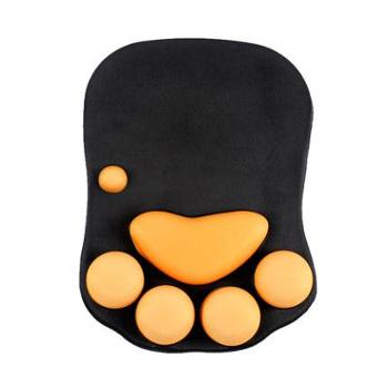 梦天创意猫爪电脑动漫鼠标垫子可爱护腕托小号鼠标手腕垫女生手托加厚硅胶清新个性萌物文艺办公舒适护手腕垫