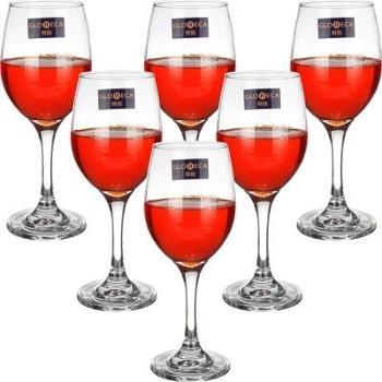 柯瑞经典款红酒杯6只装 家用玻璃酒杯 酒店高脚杯果汁杯 葡萄酒杯