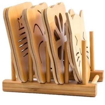 套装木质盘垫隔热垫餐垫镂空 隔热垫子碗垫防烫创意居家餐杯垫