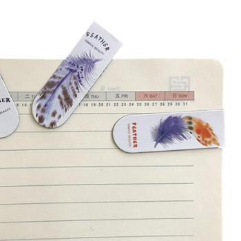 【18个】儿童书签创意小清新磁铁书签 女孩可爱卡通复古磁性书签 男孩学生奖品书夹表面覆膜防水防油软磁书签
