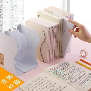 尚品可伸缩书立架创意高中生简约铁立书架桌上学生折叠收纳书靠书档简易书夹铁书立办公桌面书隔学生用大号