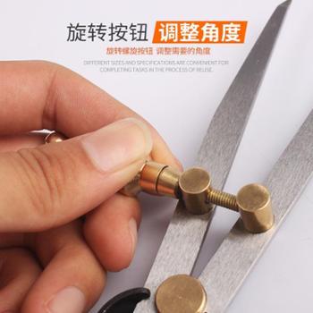 圆规工业划规 工业圆规 划线规 钳工用划规皮革工具 间距规