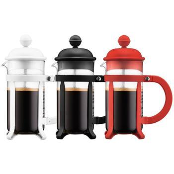 bodum波顿法压壶350ml玻璃手冲咖啡壶 迷你滤压茶壶家用latte