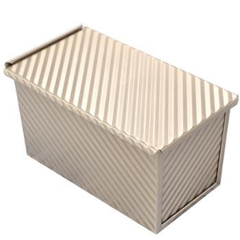450克吐司模具带盖烘焙家用长方形不沾土司盒子烤箱盘烤面包模具