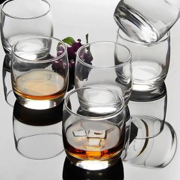 乐美雅*箭6只装圆形威士忌酒杯洋酒杯玻璃杯啤酒杯烈酒杯水杯