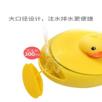face儿童餐具套装 宝宝注水保温碗勺婴儿316不锈钢防摔吸盘辅食碗