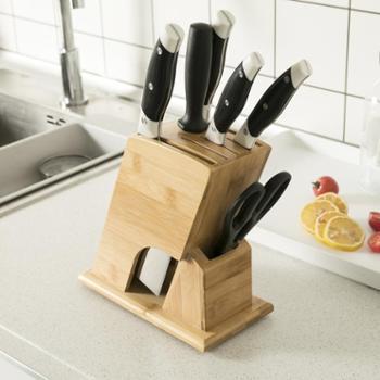 刀架厨房家用置物架菜刀架子插放刀具刀盒多功能收纳架竹创意刀座