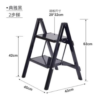 格美居多功能家用小梯子折叠加厚铝合金花架梯凳便携拍摄置物马凳