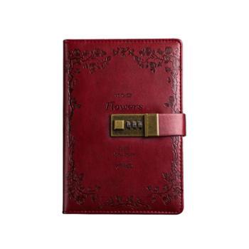 带锁日记本密码锁指纹多功能密码本复古创意记事本