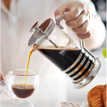 hero 法压壶 不锈钢咖啡壶 玻璃冲茶器 法压式咖啡滤压壶滤杯