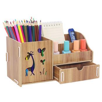 小清新可爱复古北欧女式梳子化妆收纳桶儿童文具笔筒创意时尚韩国