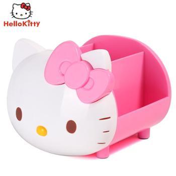 hello kitty笔筒创意时尚收纳盒韩国多功能小清新学生欧式可爱笔桶办公室笔筒桌面摆件少女心