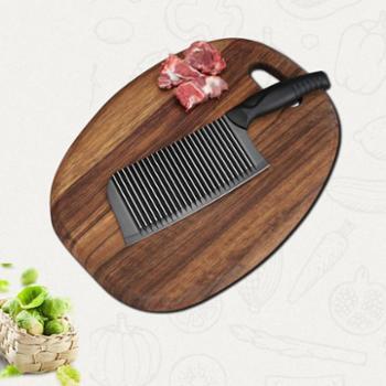 利瓷波浪纹不锈钢菜刀不粘刀切片刀砍骨刀厨刀菜刀时尚菜刀